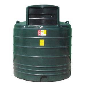 round green 2500 litre fuel dispenser tank devon