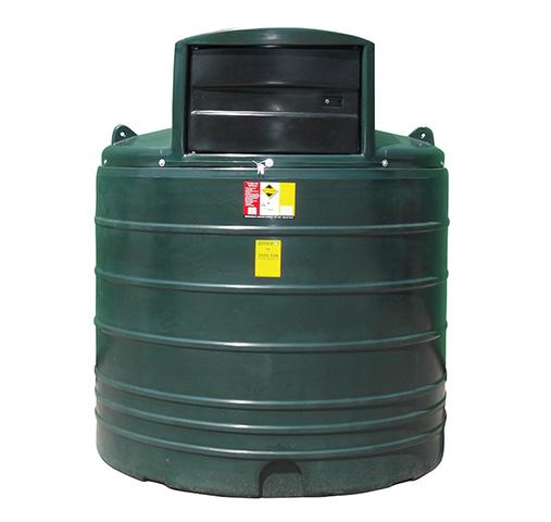 round green 2500 litre fuel dispenser tank