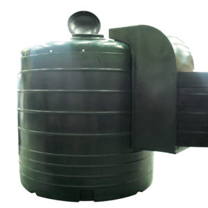 round green 5000 litre fuel dispenser tank
