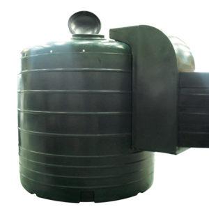 round green 8500 litre fuel dispenser tank devon